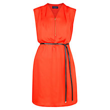 Buy Violeta by Mango Zip Satin Dress, Bright Orange Online at johnlewis.com