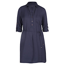 Buy Violeta by Mango Textured Shirt Dress, Navy Online at johnlewis.com