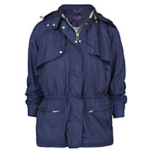 Buy Violeta by Mango Technical Parka, Navy Online at johnlewis.com
