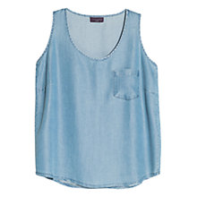 Buy Violeta by Mango Soft Tencel Top, Medium Blue Online at johnlewis.com