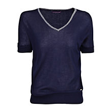 Buy Violeta by Mango Metallic Neck Jumper Online at johnlewis.com