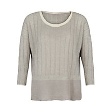 Buy Violeta by Mango Metallic Linen Blended Jumper, Natural White Online at johnlewis.com