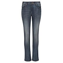 Buy Violeta by Mango Straight-Fit Ely Jeans, Dirty Blue Online at johnlewis.com