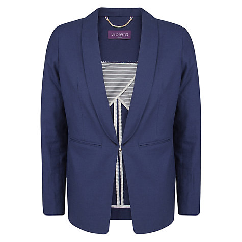 Buy Violeta by Mango Asymmetric Hem Blazer Online at johnlewis.com