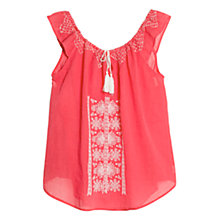 Buy Violeta by Mango Contrast Embroidered Top Online at johnlewis.com