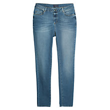 Buy Violeta by Mango Straight-Fit Konuppi Jeans, Medium Blue Online at johnlewis.com