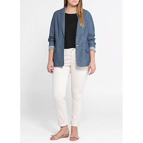 Buy Violeta by Mango Chambray Cotton Blazer, Chambray Online at johnlewis.com
