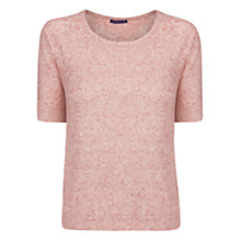 Buy Violeta by Mango Linen Knit Jumper, Red/Cream Online at johnlewis.com