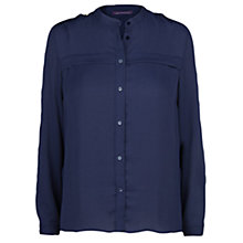 Buy Violeta by Mango Lightweight Blouse, Navy Online at johnlewis.com