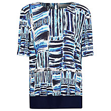 Buy Windsmoor Amalfi Print Layer Top, Multi Blue Online at johnlewis.com