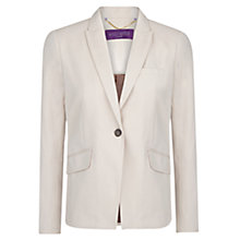 Buy Violeta by Mango Cotton Suit Blazer, Beige Online at johnlewis.com