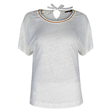 Buy Violeta by Mango Ball Chain Neck Top, White Online at johnlewis.com
