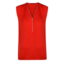 Buy Violeta by Mango Zip Satin Top Online at johnlewis.com