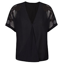 Buy Violeta by Mango Embroidered Wrap Blouse Online at johnlewis.com