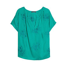 Buy Violeta by Mango Floral Embroidered Blouse Online at johnlewis.com