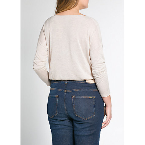 Buy Violeta by Mango Flecked Fine-Knit Jumper, Beige Online at johnlewis.com