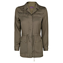Buy Violeta by Mango Satin Field Jacket, Khaki Online at johnlewis.com
