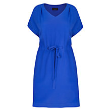 Buy Violeta by Mango Pleated Crepe Dress, Dark Blue Online at johnlewis.com