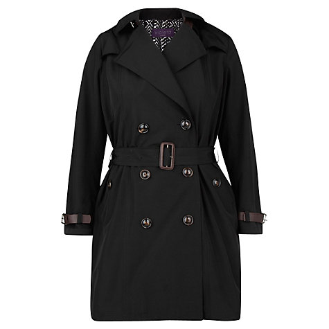Buy Violeta by Mango Belted Cuff Trench Coat, Black Online at johnlewis.com