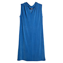 Buy Violeta by Mango Contrast Cupro Dress, Bright Blue Online at johnlewis.com