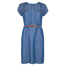 Buy Violeta by Mango Tencel Shirt Dress, Medium Blue Online at johnlewis.com