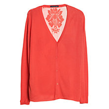 Buy Violeta by Mango Silk Embroidered Back Cardigan Online at johnlewis.com