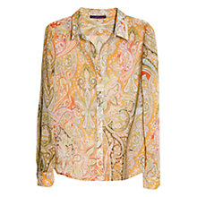 Buy Violeta by Mango Paisley Print Shirt, Multi Online at johnlewis.com