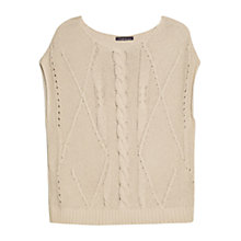 Buy Violeta by Mango Cable Knit Jumper, Light Beige Online at johnlewis.com