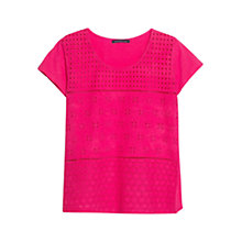 Buy Violeta by Mango Broderie Anglaise T-Shirt Online at johnlewis.com