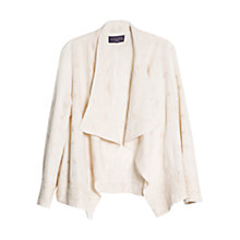 Buy Violeta by Mango Embroidered Hem Linen-Blend Jacket, Light Beige Online at johnlewis.com