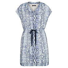 Buy Violeta by Mango Snake Print Dress, Dark Blue Online at johnlewis.com