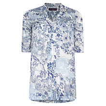 Buy Violeta by Mango Paisley Shirt Dress, Dark Blue Online at johnlewis.com