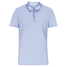 Buy Reiss Dynamite Silk Top, Light Blue Online at johnlewis.com