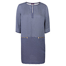 Buy Violeta by Mango Mixed Print Dress, Dark Blue Online at johnlewis.com