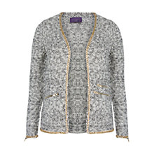 Buy Violeta by Mango Link Chain Cardigan, Black Online at johnlewis.com