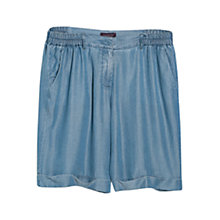 Buy Violeta by Mango Soft Tencel Bermuda Shorts, Medium Blue Online at johnlewis.com