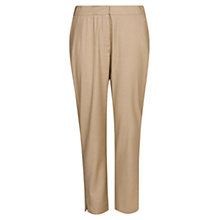 Buy Violeta by Mango Linen Blend Cropped Trousers, Mole Online at johnlewis.com