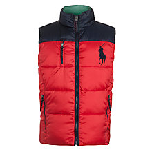 Buy Polo Ralph Lauren Boys' Reversible Gilet, Red Online at johnlewis.com