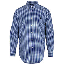 Buy Polo Ralph Lauren Blake Check Long Sleeve Shirt, Blue/White Online at johnlewis.com