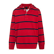 Buy Polo Ralph Lauren Boys' Long Sleeve Stripe Hoodie, Red/Blue Online at johnlewis.com