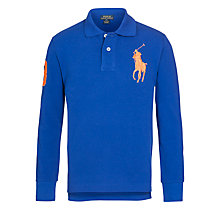 Buy Polo Ralph Lauren Boys' Long Sleeve Polo Top, Blue Online at johnlewis.com