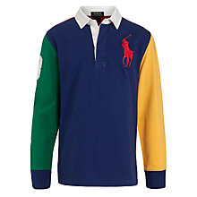 Buy Ralph Lauren Boys' Long Sleeve Rugby Jumper, Multi Online at johnlewis.com