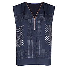 Buy Violeta by Mango Polka Dot Blouse, Navy Online at johnlewis.com