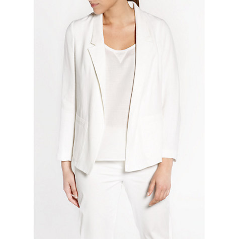 Buy Violeta by Mango Oversized Jacket, White Online at johnlewis.com