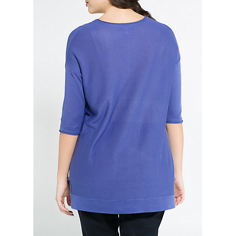 Buy Violeta by Mango Silk Cotton-blend Jumper Online at johnlewis.com