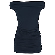 Buy Phase Eight Bernie Bardot Sleeveless Top, Navy Online at johnlewis.com