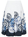 Phase Eight Assiette Print Skirt, Periwinkle/Ivory