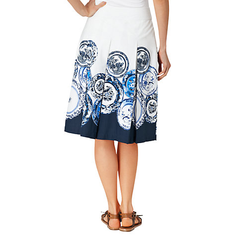 Buy Phase Eight Assiette Print Skirt, Periwinkle/Ivory Online at johnlewis.com