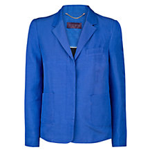 Buy Violeta by Mango Colour Linen Blend Blazer, Dark Blue Online at johnlewis.com