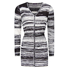 Buy Violeta by Mango Belted Flecked Cardigan, Black Online at johnlewis.com